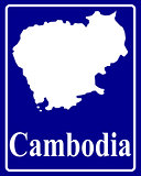silhouette map of Cambodia