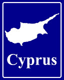 silhouette map of Cyprus