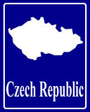 silhouette map of Czech Republic