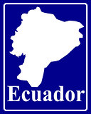silhouette map of Ecuador
