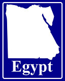 silhouette map of Egypt