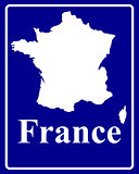 silhouette map of France