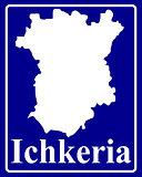 silhouette map of Ichkeria