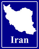 silhouette map of Iran