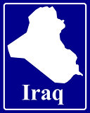 silhouette map of Iraq
