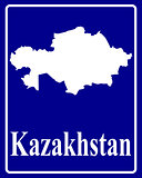 silhouette map of Kazakhstan