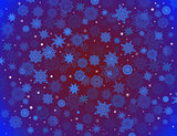fabulous snowflakes on the blue