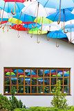 umbrellas and window