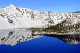 Winter reflection in Crater Lake