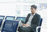 Indian business man at airport