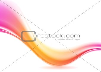 Abstract pink and orange futuristic wave