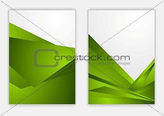 Abstract green corporate tech flyer design