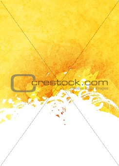 Abstract grunge yellow and white background