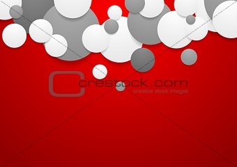 Abstract corporate background with circles