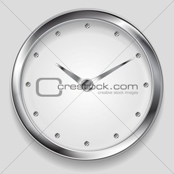 Abstract metallic vector clock design