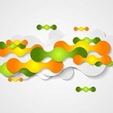 Orange and green circles shapes background