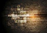 Grunge tech background