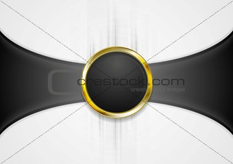 Abstract background with golden circle shape