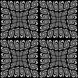 Design seamless monochrome spiral movement pattern