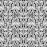 Design seamless monochrome warped pattern