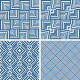 Seamless geometric checked textures set.