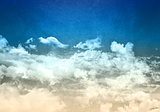 Grunge blue sky background