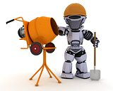 Robot builder with cement mixer