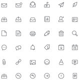 Email icon set