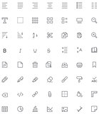 Text editing icon set