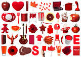Collage of Red Objects