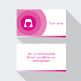 Modern pink business card template