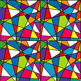 Colorful mosaic, seamless with geometrical shapes