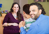 Latino Couple with Surrogate Mother