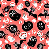 funny halloween monster pattern