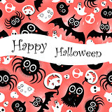 funny halloween background Monsters