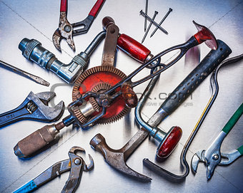 Tools used in home repairs