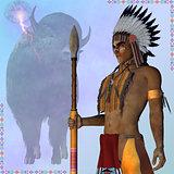 Indian Standing Buffalo