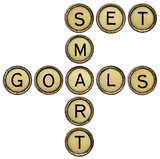 set smart goals in  typewriter keys