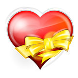 heart with gold bow