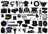 Black Objects Collage