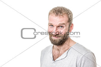 bearded man casual