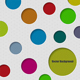 Circle background design with