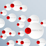 Abstract circle infographic background design