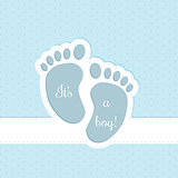 Baby shower greeting card invitation design