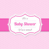 Baby shower invitation design in pink