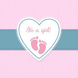 Baby shower invitation design with footprints