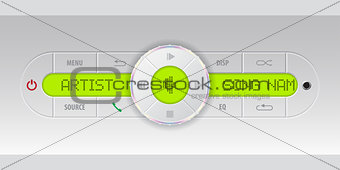 Car audio dashboard
