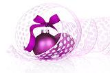 Purple christmas still life.