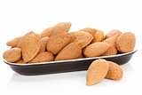 Almonds in bowl.