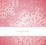 Pink floral vector card or invitation